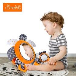 Детское зеркало TUMAMA, Автомобильное Зеркало с животиком, развивающая активность, коляска Haning, зеркальные игрушки для новорожденных, безопас...