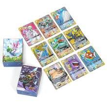 Cartes pokémon brillantes GX EX Mega Tag team, 10, 25, 50, 100, 200 pièces, cartes de combat, jeu pour enfants, offre spéciale
