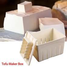 Kit de moules à pression en plastique pour Tofu fait maison bricolage ensemble de Machine à faire soi-même, moule à soja avec tissu fromage, Cuisine