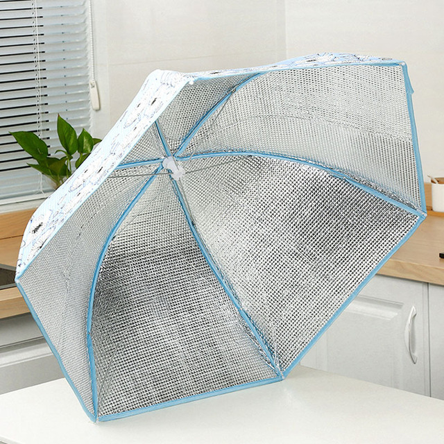 70/80 Cm Household Folding Dining Table Cover Insulation Dish Covers Winter Dust-Proof Insulation Leftover Food Kitchen Supplies 3