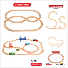 Wooden Tracks Train Set Toys Magical Brio Wood Railway Rail Accessories Puzzles Wooden Toy Educational Toys For Kids Gifts