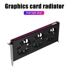 JONSBO grafik kartı soğutma fanı RGB aydınlatma desteği AURA anakart ekran kartı ısı emici radyatör için NVIDIA GTX/AMD