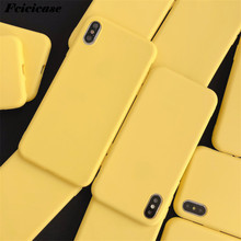 Yellow Matte Phone Case For OPPO Realme 3 5 C2 XT X2 Pro Reno 10 Z 2F Findx 2 Soft Cover(China)