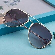 Feishini Original Oversized Tinted Pilot Sunglasses Women Luxury Brand