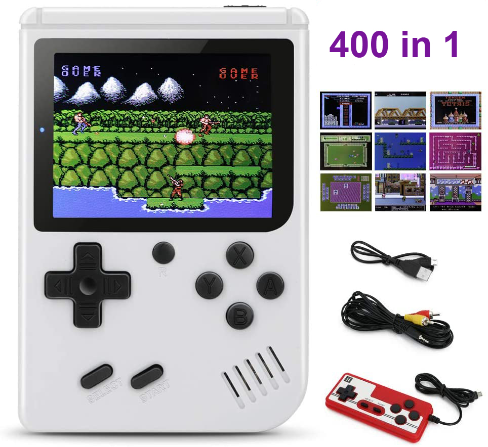 3 inch Handheld Game Player 400 in 1 Retro Video Game Console 8 Bit Gaming Player Mini Pocket Gamepads Support Two Players
