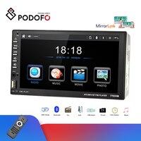 Podofo 2din Car Radio 7'' Car Multimedia Player Autoradio Mirror Link Audio MP5 Cassette Recorder Stereo Support DVD disc case