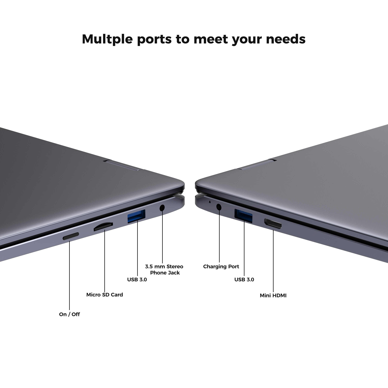 كمبيوتر لوحي جديد XIDU PhilBook Max شاشة لمس كمبيوتر محمول ثنائي النواة لوحة مفاتيح بإضاءة خلفية مع 6GB RAM 128GB ROM 14.1 بوصة