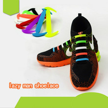 12 pcs lazy silicone laces for adults and children fashion trend sports lazy laces sickle elastic laces