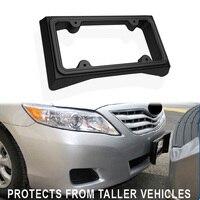 Soporte de placa de número de coche marco para matrícula montaje frontal placa de matrícula marco Protector Flexible placa de matrícula de coche 14*8 5*2 25 cm|Matrícula| |  -