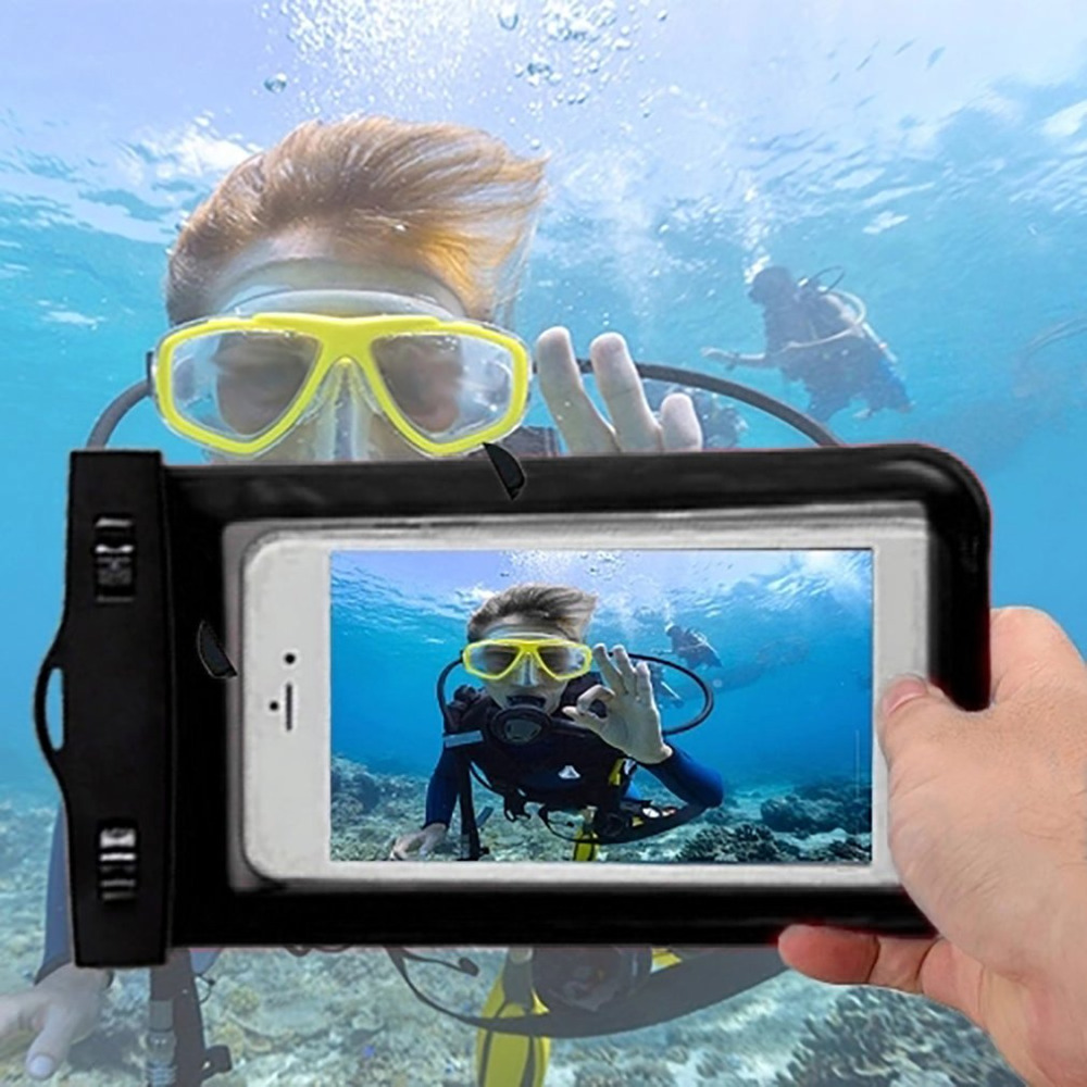 Waterproof <font><b>Phone</b></font> Bag Pouch Underwater Dry <font><b>Case</b></font> Cover Universal for Mobile <font><b>Phone</b></font> <font><b>Water</b></font> <font><b>Proof</b></font> Bags Dirt-resistant image