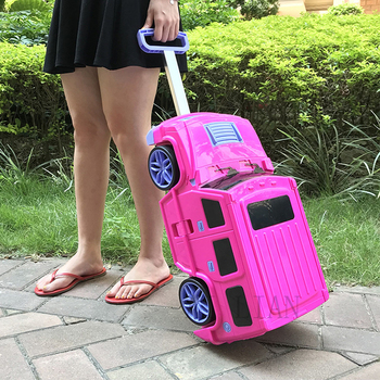 3D Cartoon Car Trolley luggage kids rolling luggage Carry ons suitcase with wheels fashion cabin trolley bag for children gift