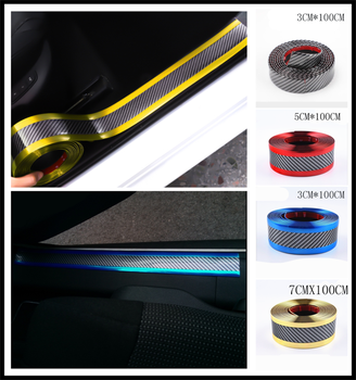 Car styling 1M carbon fiber rubber strip decoration bumper guard for Subaru Forester Ascent XV WRX VIZIV Outback Baja B5-TPH image