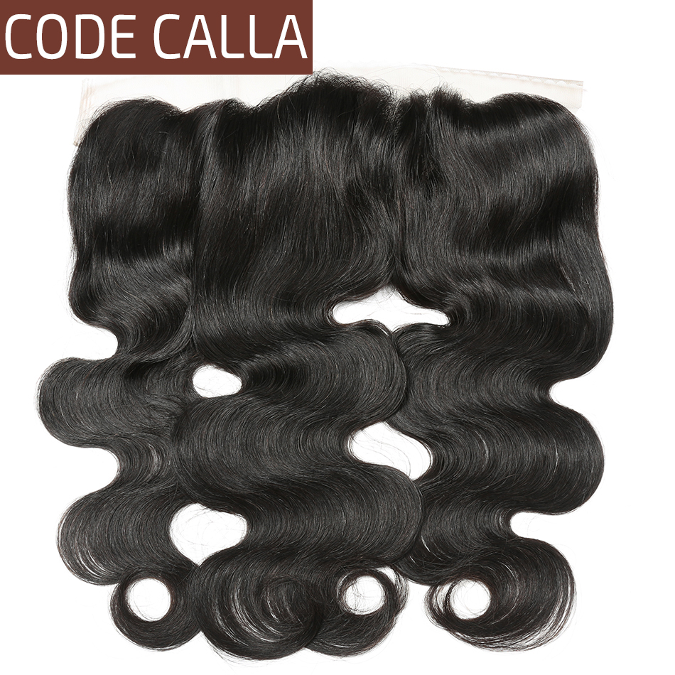 Code Calla Hair Brazilian Body Wave Lace Frontal Swiss Lace Frontal Human Hair Remy Hair Lace Frontal Closure
