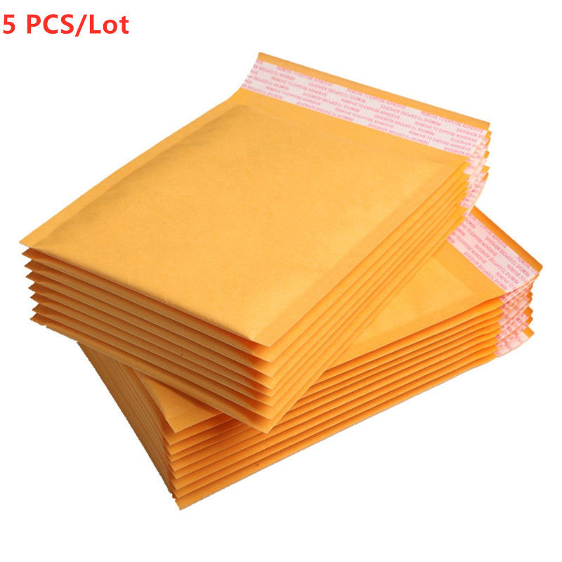 5 PCS/Lot 110x150mm Kraft Paper Mailers Bubble Envelopes Bags Mailers Padded Shipping Envelope With Bubble Mailing Bag
