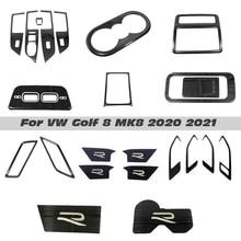 ملحقات السيارة الداخلية لفولكس فاجن ، غطاء كوب الماء ، فتحات التهوية ، نافذة الرفع ، لوحة التبديل ، تقليم ، لـ VW Golf 8 MK8 2020 2021 LHD