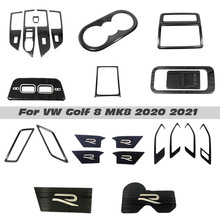 Car Interior Accessories For Volkswagen VW Golf 8 MK8 2020 2021 LHD Water Cup Cover Air Vent Trims Window Lift Switch Panel Trim
