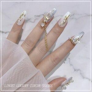 5 шт./лот, сплав элегантной формы с кристаллами циркона для 3D дизайна ногтей, стразы для украшения ногтей|Стразы и украшения|   | АлиЭкспресс