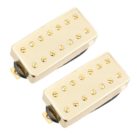 2 Pieces 7 Strings Electric Guitar Double Coil Humbucker Pickup with Screws Springs Golden