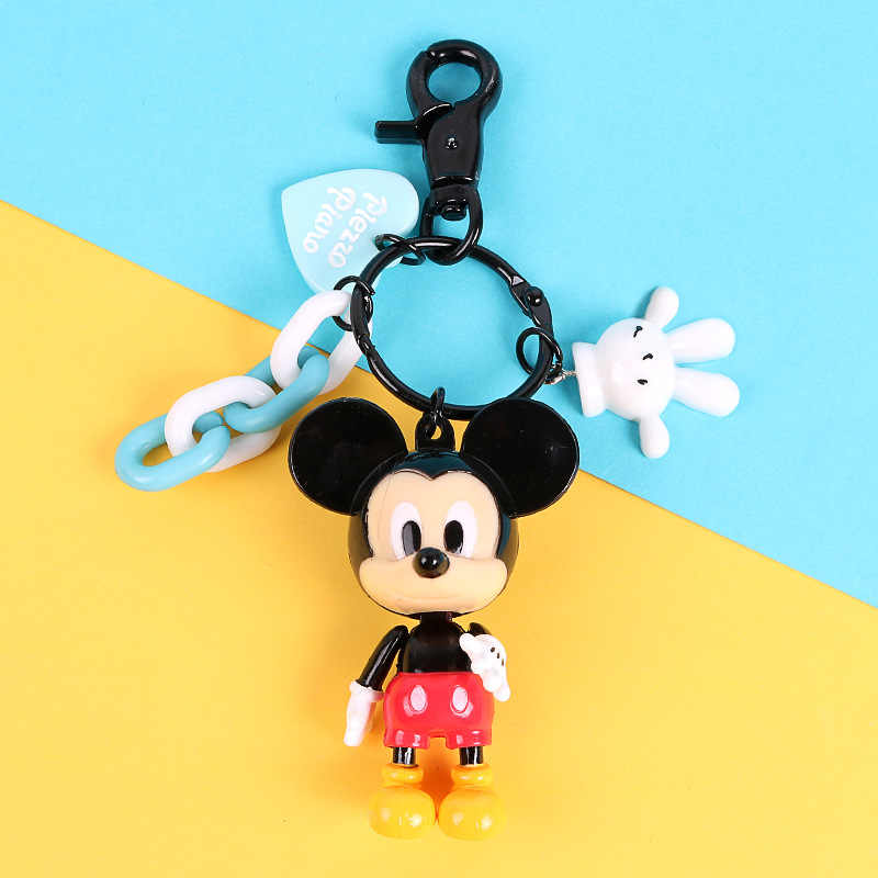 Minnie Hoạt Hình Dễ Thương Hình Móc Chìa Khóa Mini Anime Móc Khóa Kid Charm Chuột Mặt Dây Chuyền Da Chìa Khóa Thời Trang Bé Gái Móc Khóa