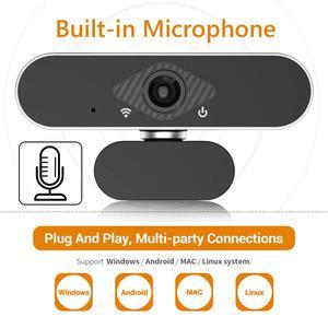 Image 1 - ALLOET Webcam Full HD 1080P, caméra Web avec Microphone intégré, rotatif, Autofocus, pour la diffusion en direct et le travail de vidéos