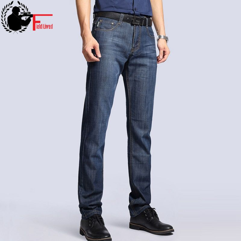 Big Size Plus 40 42 2020 Nian JEEP Brand Men Jeans Classic Men's Clothing Casual Denim Trousers Men Regular Blue Jean Pants Male