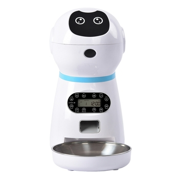 Pet Automatic Feeder Food Dispenser Features Distribution Alarms Control Voice Recording Timer Feeder Programmable Up to 4 Meals