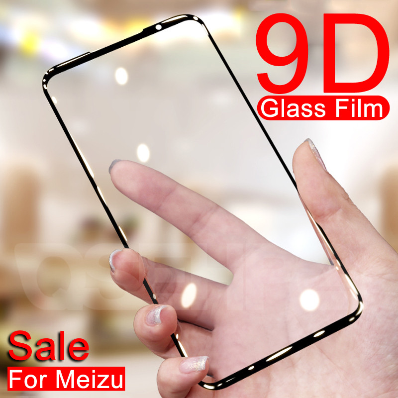 9D Tempered Protective Glass on the For <font><b>Meizu</b></font> <font><b>16</b></font> th 16S 16X Plus 16XS X8 Note 8 9 M8 Lite <font><b>Pro</b></font> 7 Screen Protector Glass Film Case image