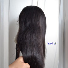 Yeahwigs Yaki Straight 360 Lace Frontal Wig Remy 150% Density 360 Light Yaki Straight Wig(China)