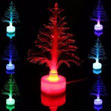 Mising Mini USB LED veilleuse couleur changeante Fiber optique lumière LED lampe de sapin de noël décor à la maison