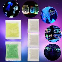 10g Luminous Party DIY Bright Glow in the Dark Paint Star Wishing Bottle Fluorescent Particles Decoration Gift(Blue Green)(China)