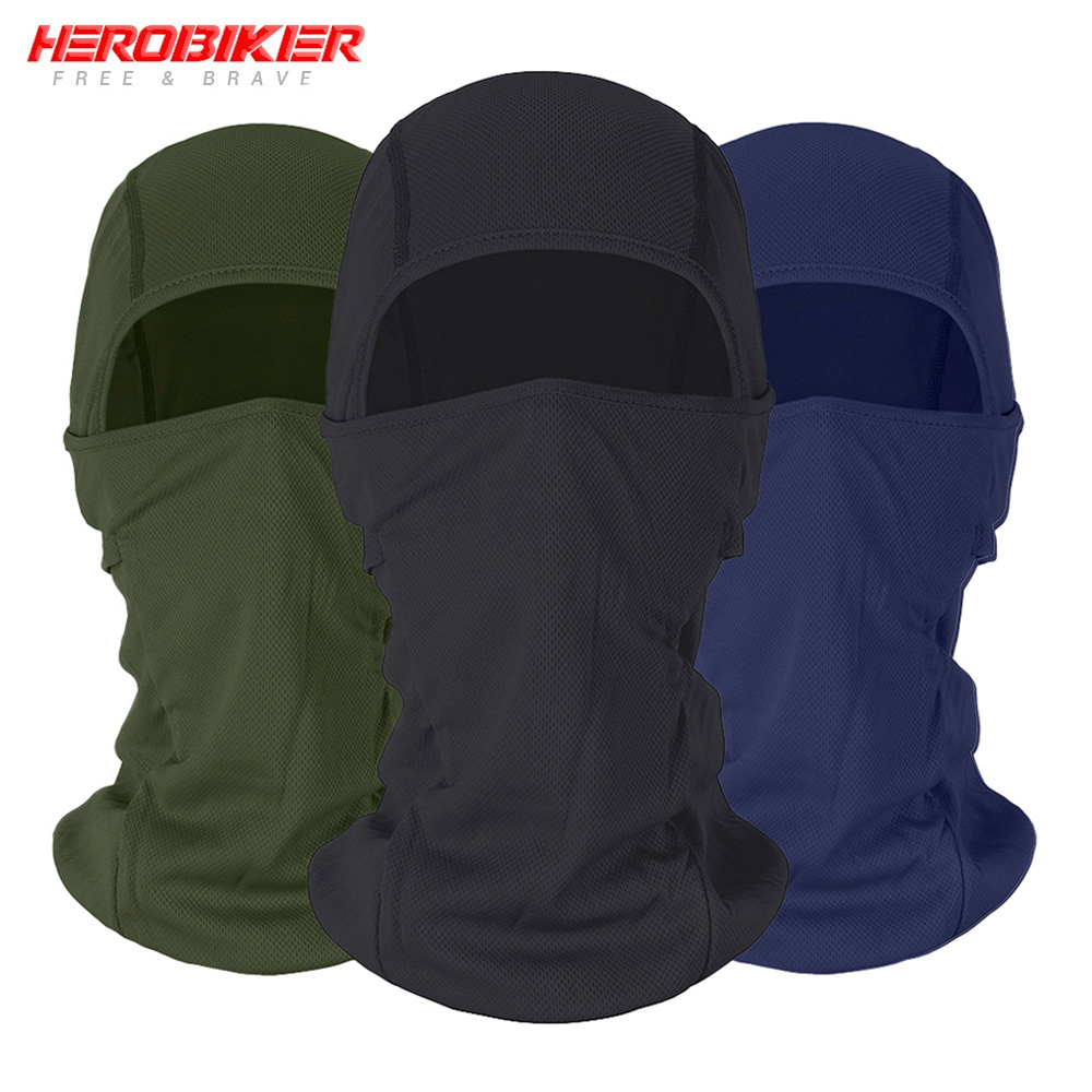 HEROBIKER Motorcycle Balaclava Face Mask Moto Warm Windproof Breathable Airsoft Paintball Cycling Ski Face Shield Men Sun Helmet
