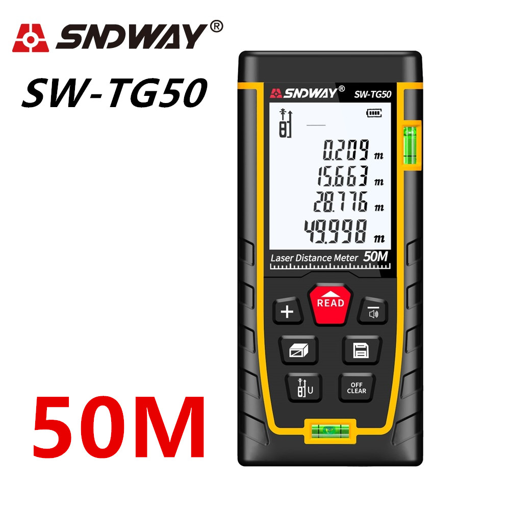SNDWAY Laser Distance Meter 40-120M with LCD and Auto Power Off to Measure Wide Range Area 11