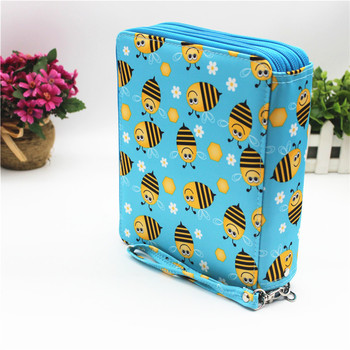 School Cute Flower Pencil Case Penal Large 127 Holes Pencilcase 3 Layers Cartridge Penalty Kit Pen Case Bag Box Stationery Pouch sketch school pencil case 72 holes penalty pencilcase large zipper pen bag four multi layers boy girls set box stationery pouch