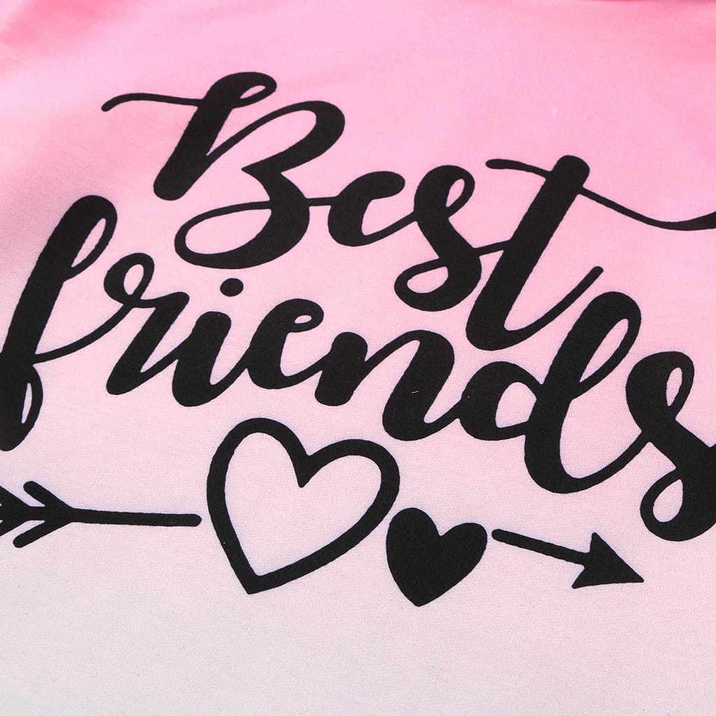 سويت شيرت للبنات موضة البنات أفضل الأصدقاء أومبير هوديي البلوز البلوز بلايز هوديس للبنات المراهقين