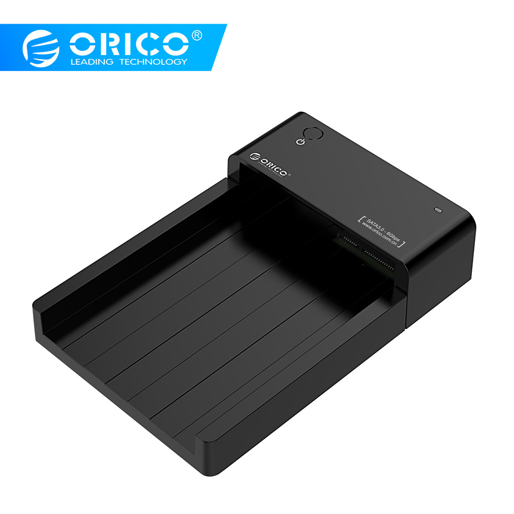 ORICO 2.5 3.5 Inch HDD SSD Docking Station SATA To USB Type B External Hard Disk Drive Enclosure Support 8TB Drive Tool Free
