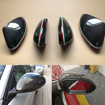 100% Real Carbon Fiber Side Mirror Cover Cap Replacement Caps Shell for Alfa Romeo Giulia 952 Stelvio 949 Car Styling