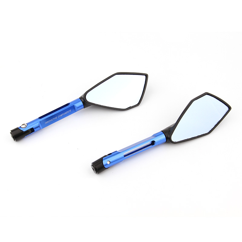Universal Motorcycle Mirrors Accessories 8mm 10mm Rearview Mirrors Blue Glass For Suzuki bandit 600 650 1200 gsxr 600 750 1000 in Side Mirrors Accessories from Automobiles Motorcycles