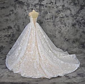 Image 4 - Royeememo Luxurious V neckline lace ball gown wedding dress 2020 bride dress