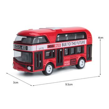 Kids 1:43 Car Model Double-decker London Bus Toys Alloy Diecast Vehicle Toys For Children Gifts (Random Color) image