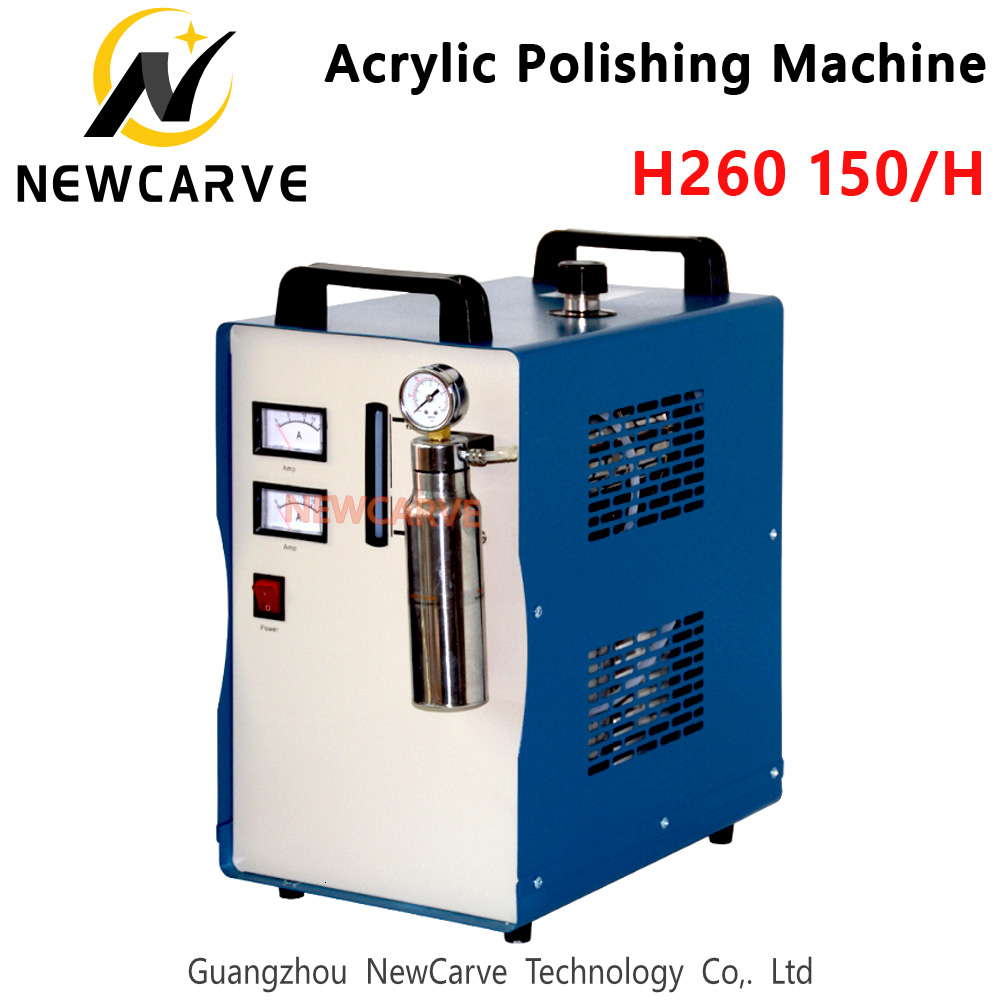 H260 150L Acrylic Flame Polishing Machine Oxygen Hydrogen Polisher 220V Jewelry Welding Machine NEWCARVE