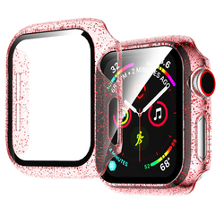 Screen Protector Clear Full Coverage Glitter Protective Film for Apple Watch 5 4 3 2 Protective Case Iwatch 40MM 44MM 38MM 42MM