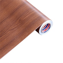 PVC Wood Grain  Wall Stickers Self-Adhesive For Kitchen Cabinets Shelf Liner Wardrobe Door Waterproof Wallpaper цена