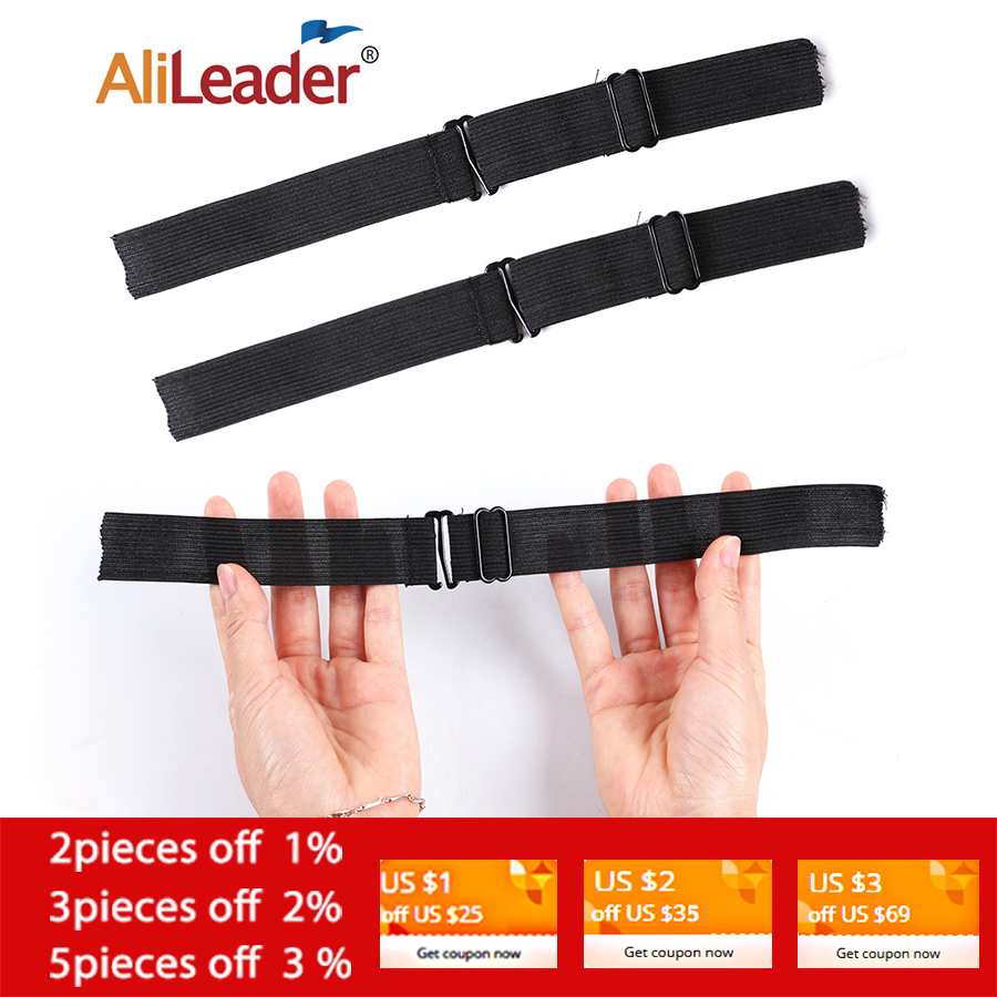 Alileader Adjustable Black Nylon Highest Elastic Bands For Wigs Making Wig Caps Hair Net Lace Net Sewing Rubber Wig Making Tools