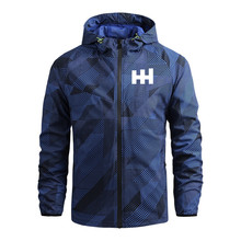 2021 spring and autumn brand color matching youth popular outdoor sports casual Hoodie stand neck jacket
