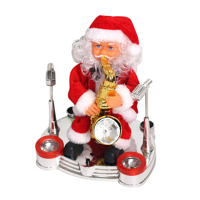 Christmas Santa Claus Performance Singing Musical Electric Toy Christmas Tree Ornaments New Year Kids Electric Toy Gifts M810#Electronic Toys