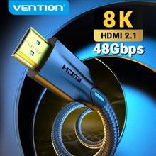 Vention HDMI кабель 2,1 8K/60Hz 4K/120Hz 48 Гбит/с цифровой кабель для PS4 TV Box HDR10 + 1m 2m 3m Кабель HDMI сплиттер 8K HDMI 2,1