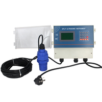 QDW70A 20 Meter Split Ultrasonic Liquid Level Sensor Diesel fuel Water Tank Level Sensor Relay Output Liquid Level Transmitter
