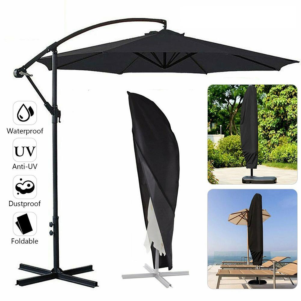 Outdoor Umbrella Cover Waterproof UV Protection Oxford Cloth Garden Patio Umbrella Cover Shield Cantilever Parasol Rain Cover
