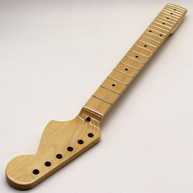 High Gloss Right Hand 22 Fret Big Head ST Guitar Neck Natural Color Full Canada Maple With Middle Line