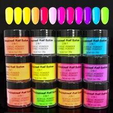 1 uncja/butelka (30g) proszek akrylowy proszek do zanurzania Neon Pigment fluorescencyjny krystaliczny proszek budynek lakier do paznokci proszek Tr #67